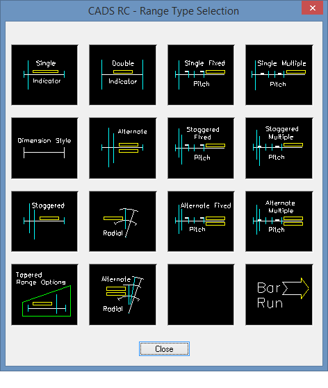 Range Types Dialog