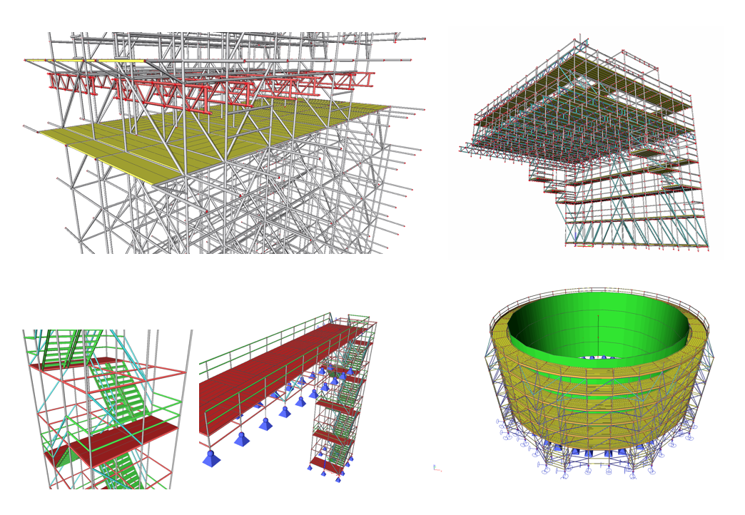 3d scaffold stock illustration. Illustration of civil 99841527.