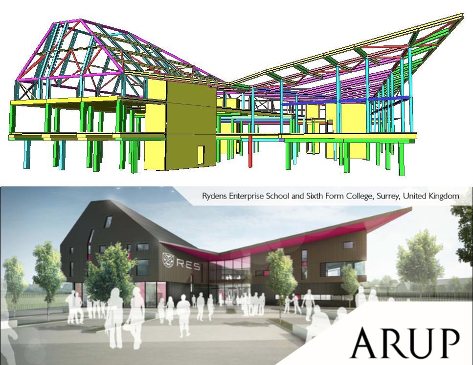 ARUP Models Rydens Enterprise School