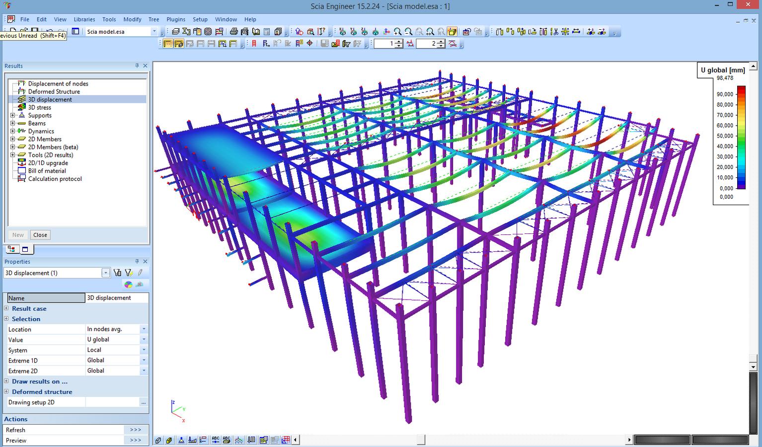 3D Displacements & Stresses