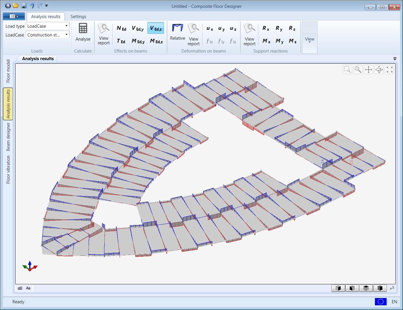 Floors Designer analysis shear