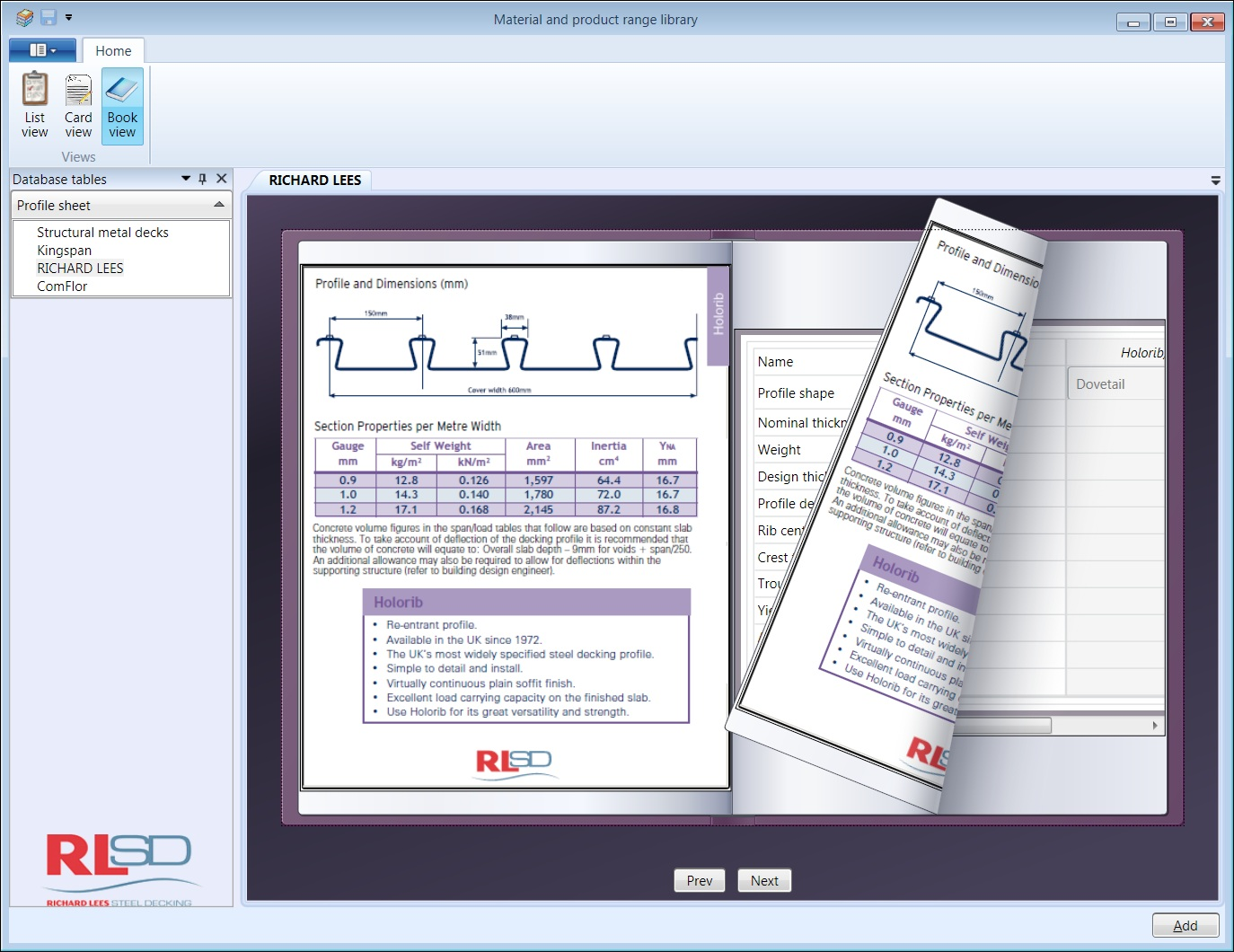 Database Book View