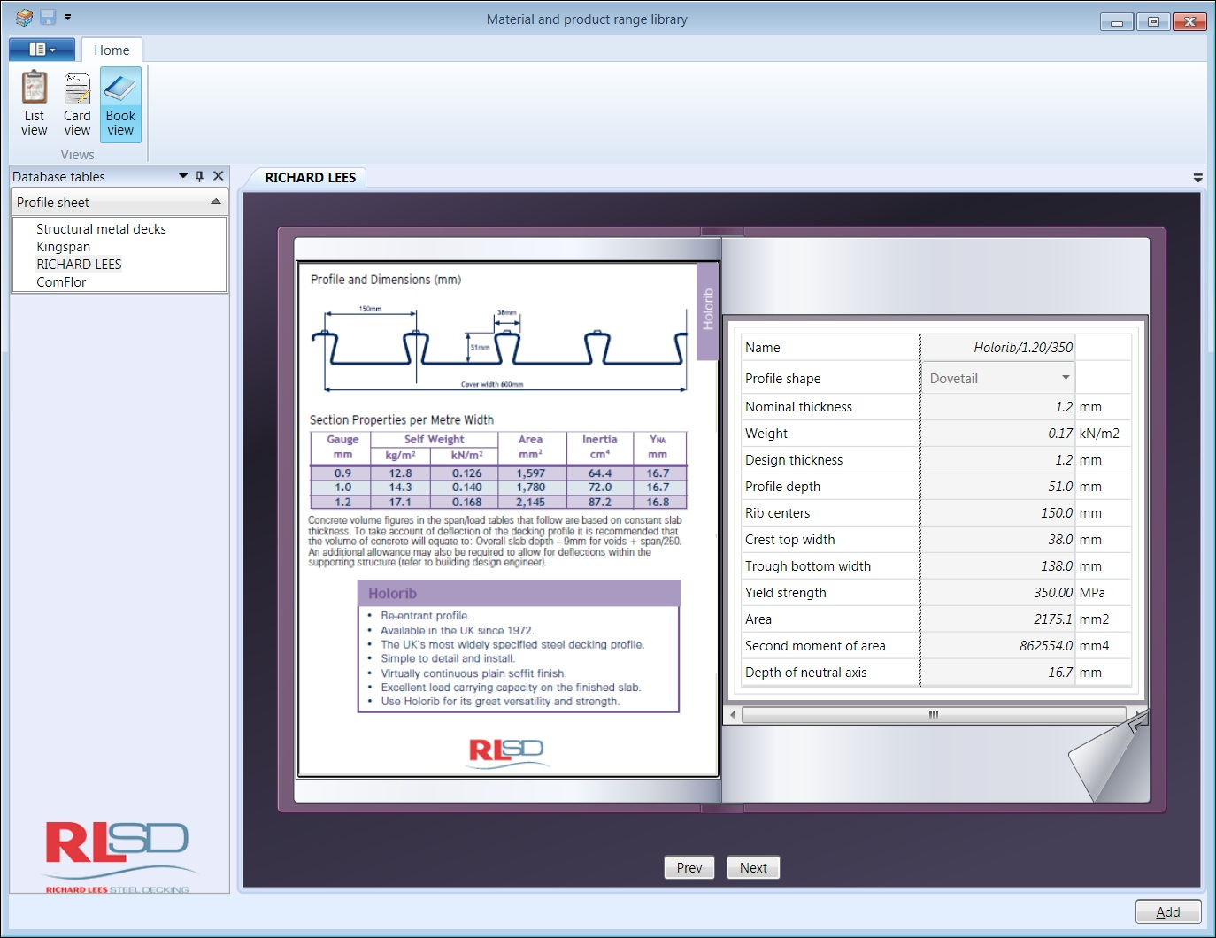 CFD Database book view 1