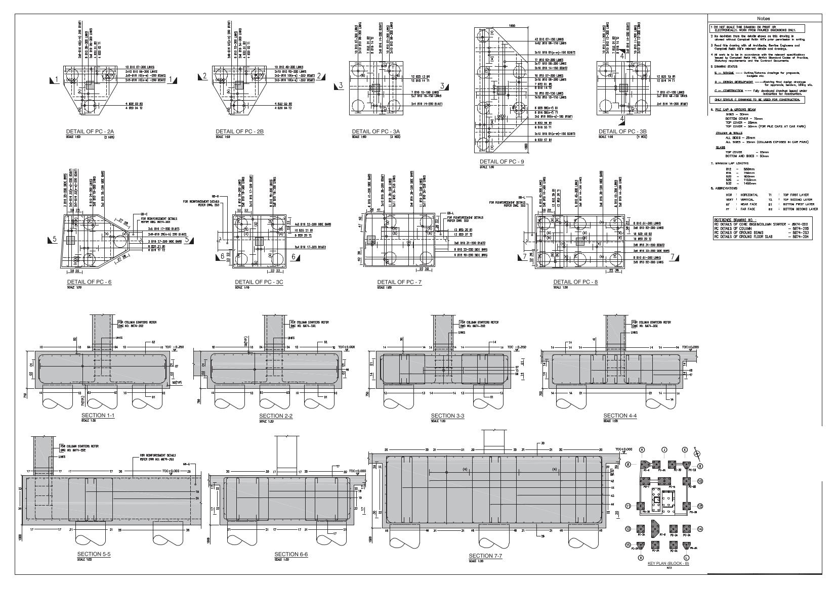 Cafe Floor Plan Cads Rc Sample Drawings Amp Bar Bending Schedules Cads Uk