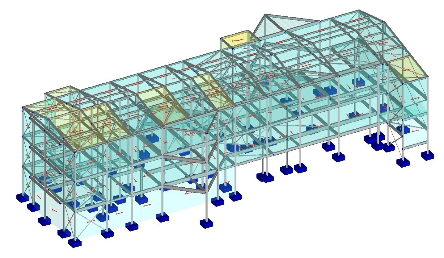 Load Panels To Distribute Load To Frame (one And Two-way)