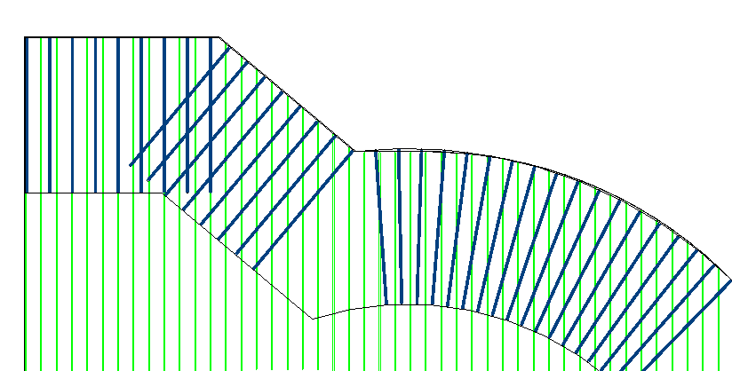 U bar placed in 2D using Revit's path reinforcement