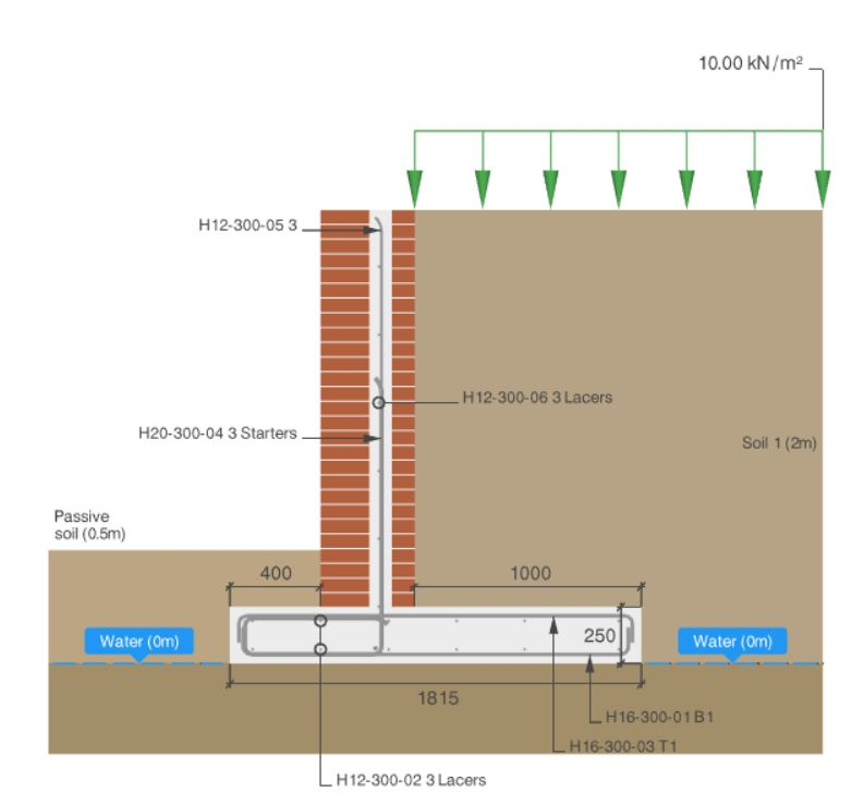 Retaining Wall Designer Reinforced Concrete And Gabion Walls Cads Uk
