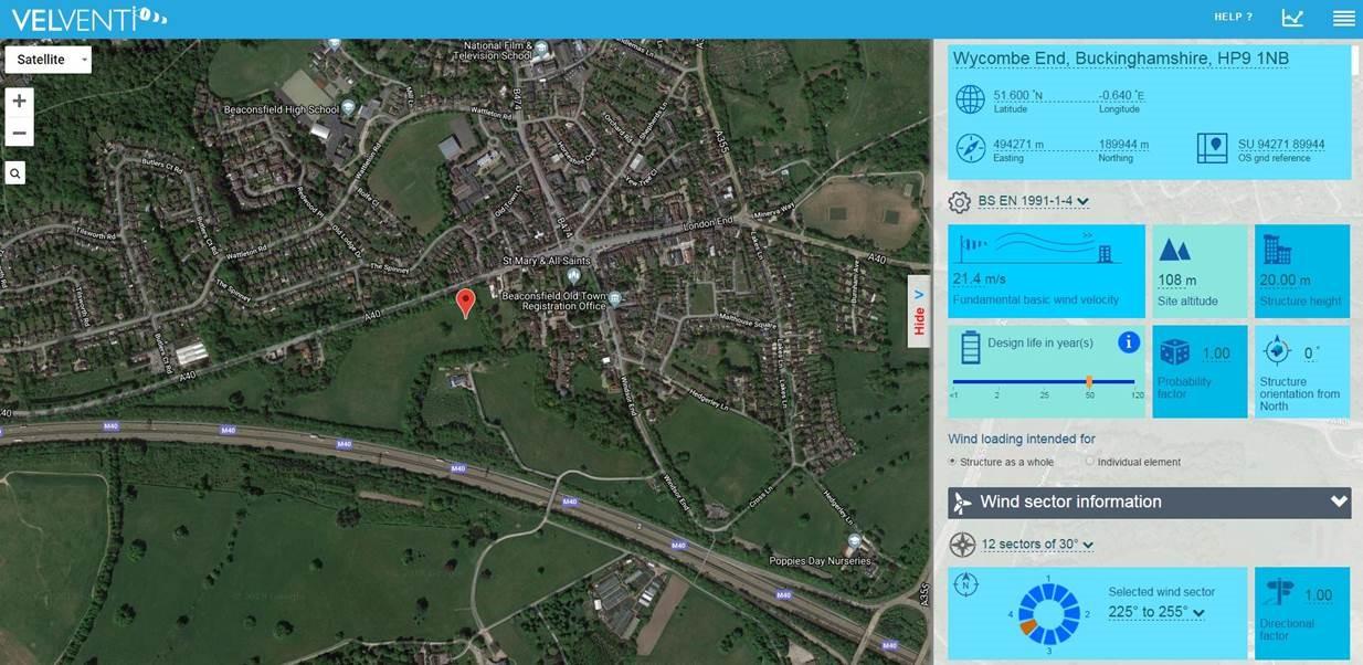 VelVenti satellite map
