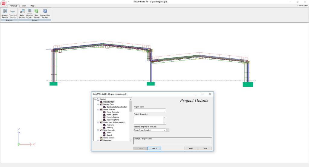 SMART Portal 2D - main window layout