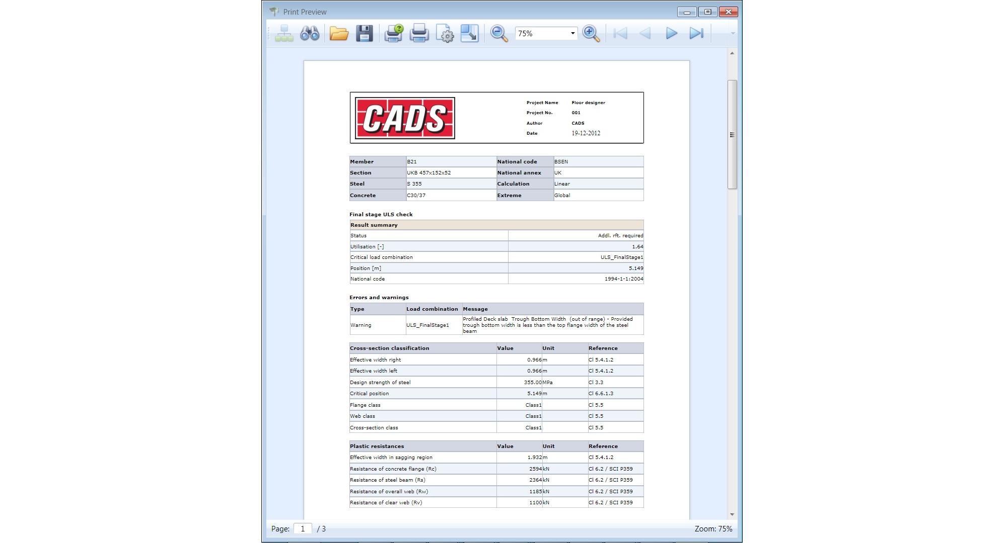 photograph regarding Printout Designer called Composite Area Designer - CADS British isles