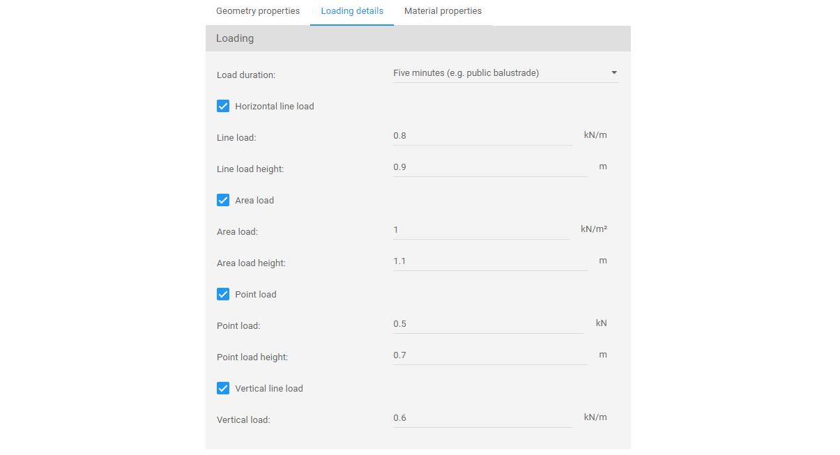 Load input menu