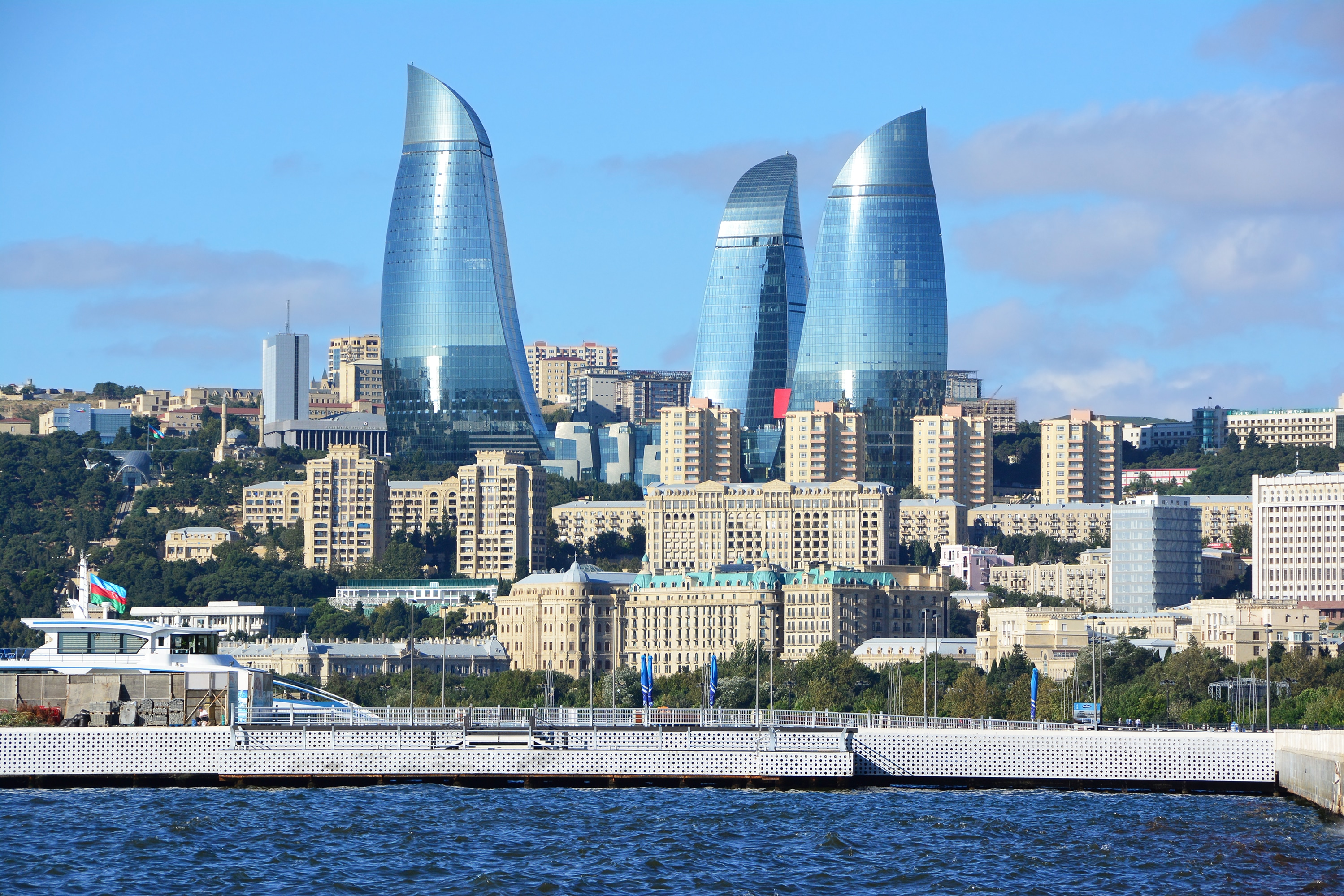 Flame Towers of Baku