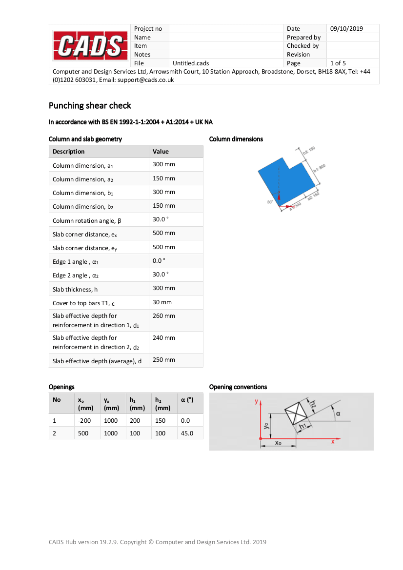 Punching Shear Detailed Report